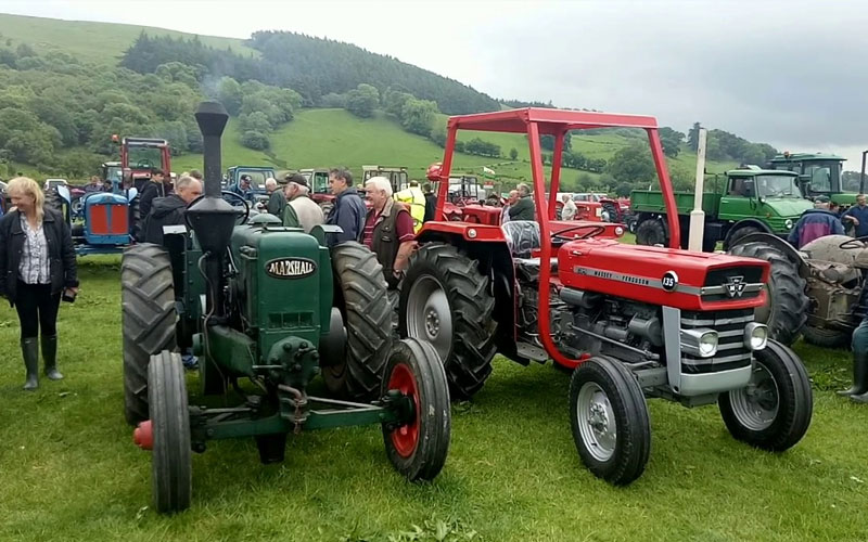 Vintage cars and tractors